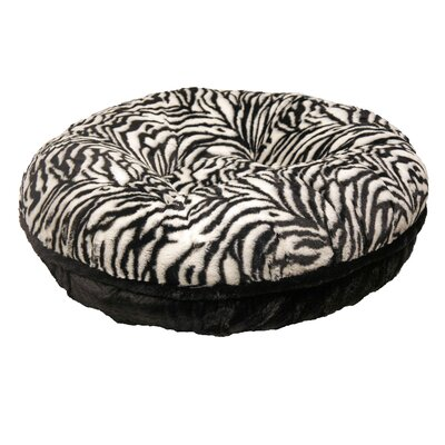 Bagel Zebra Mink Dog Bed Size: Extra Small - 24 L x 24 W