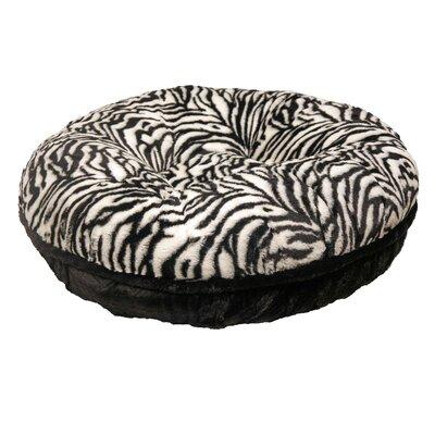 """Bagel Zebra Mink Dog Bed Size: Extra Small - 24"""" L X 24"""" W"""
