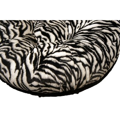 Bagel Zebra Mink Dog Bed Size: Small - 30 L x 30 W