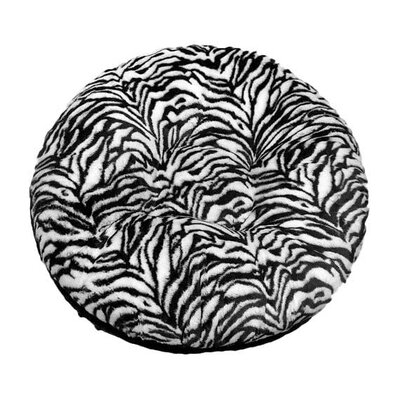 Bagel Zebra Mink Dog Bed Size: Medium - 36 L x 36 W