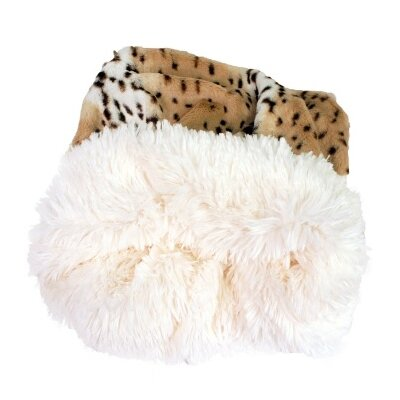 Snow Leopard Shag Dog Pouch