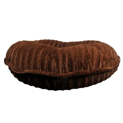 Mischa Faux Mink Dog Bed Size: Extra Small (24 L x 24 W), Color: Chocolate