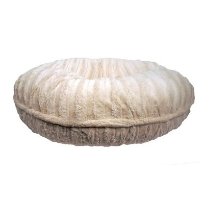 Mischa Faux Mink Dog Bed Size: Large (42 L x 42 W), Color: Cream