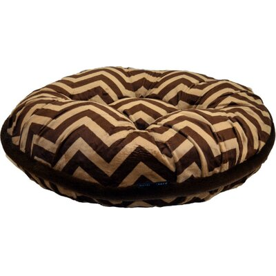 Chevron Dog Bed Size: Tiny (20 L x 20 W)