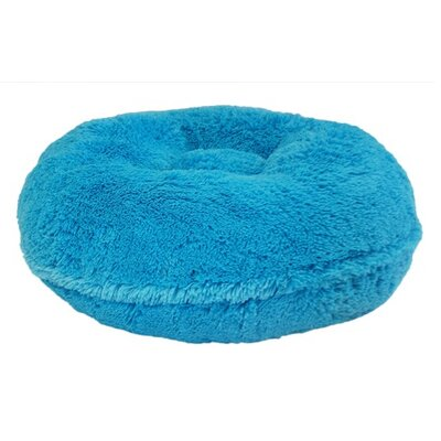 Shag Dog Bed Size: Medium (36 L x 36 W), Color: Turquoise