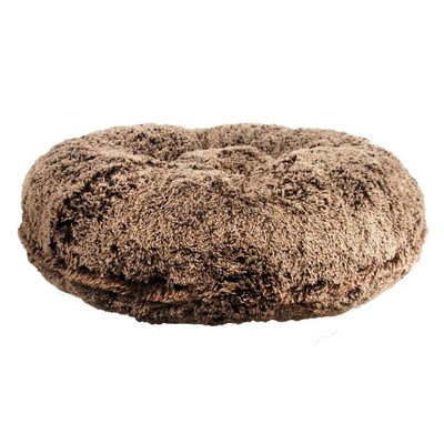 Shag Dog Bed Size: Medium (36 L x 36 W), Color: Chocolate Frosted