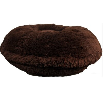 Shag Dog Bed Size: Extra Small (24 L x 24 W), Color: Chocolate