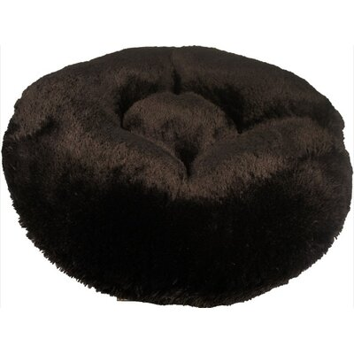 Shag Dog Bed Size: Large (42 L x 42 W), Color: Black
