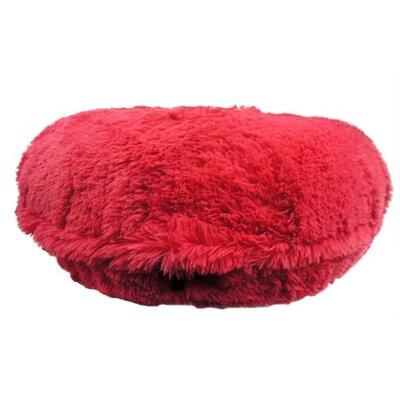 Shag Dog Bed Size: Large (42 L x 42 W), Color: Pink