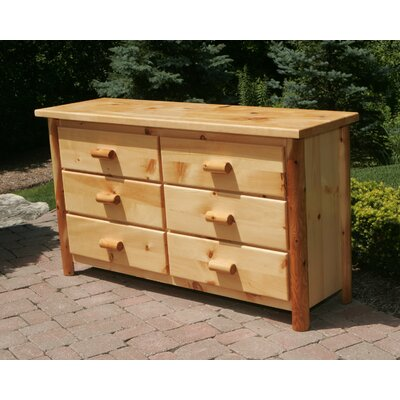 In store financing 6 Drawer Dresser Finish: Amber Varn...