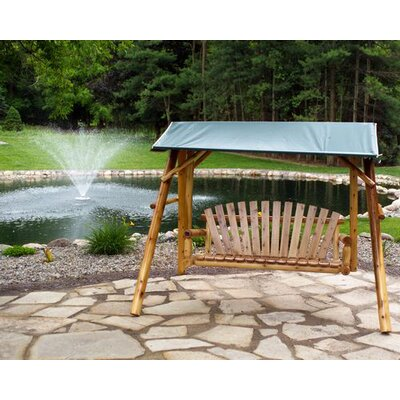 Moon Valley Rustic 4' Swing Canopy - Fabric: Turquoise