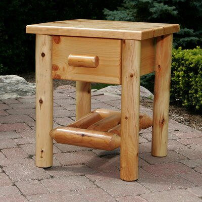 1 Drawer Nightstand Finish Amber Varnish