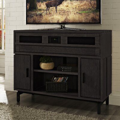 Soho 48 Deluxe TV Stand with Built-In Surround Sound Finish: Brown