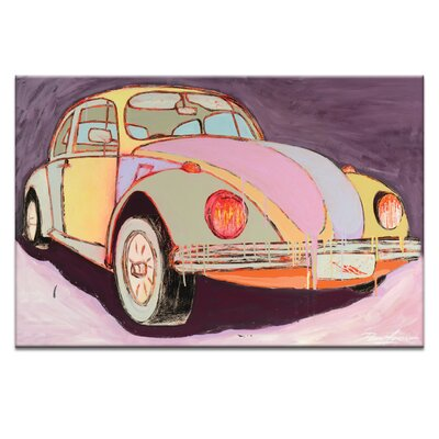 'Love Bug at Dusk' Graphic Art Print on Wrapped Canvas Size: 20