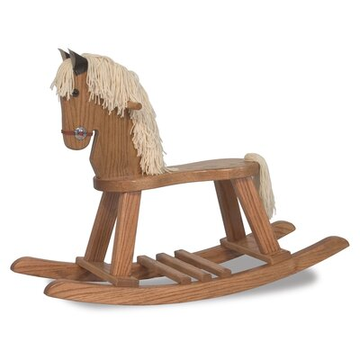 Amish Crafted Pony Rocking Horse with Mane RHS-1001