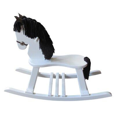 FireSkape Amish Crafted Pony Rocking Horse with Mane - Mane Color: White, Finish: Maple White at Sears.com