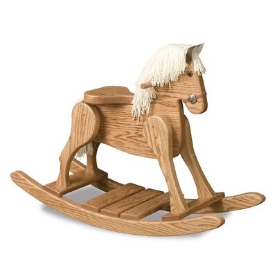 Amish Small Deluxe Crafted Rocking Horse with Mane RHSD-1001