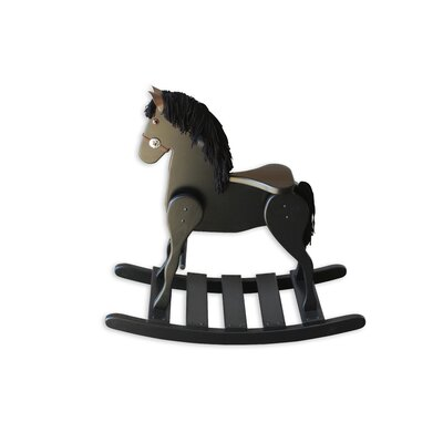 Amish Medium Deluxe Crafted Rocking Horse with Mane RHMD-1006