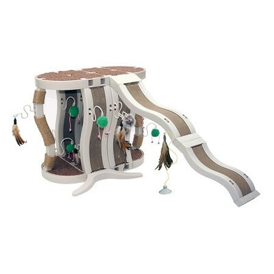 Kitty Connection Double Curved Tree and Scratcher Set