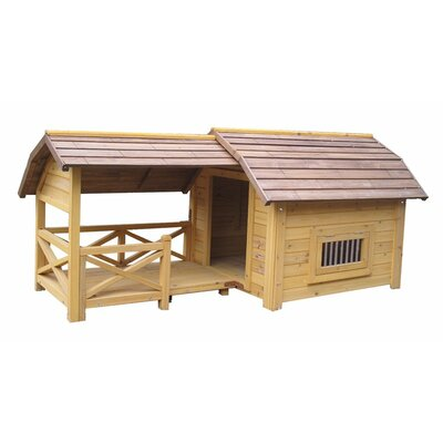 Houses & Paws Wooded Lux Dog House