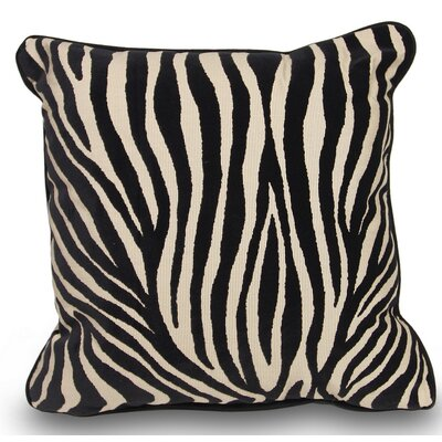 Mozambique Accent Throw Pillow Color: Black / Tan