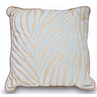 Mozambique Accent Throw Pillow Color: Blue / Tan