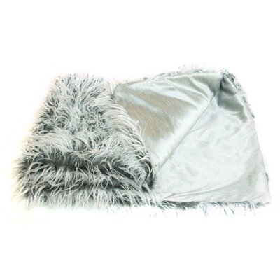 Prestige Mongolian Faux Silver Lamb Throw