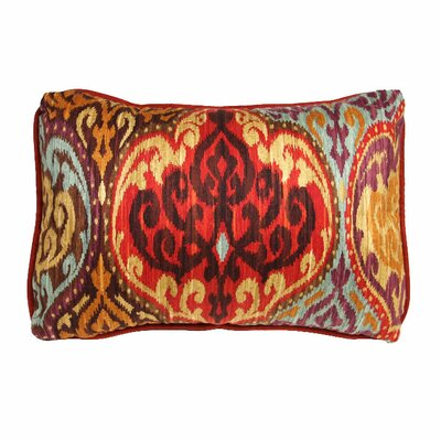 Lunar Sky Ikat Accent Cotton Throw Pillow