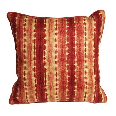 Morrocan Henna Ikat Accent Cotton Throw Pillow