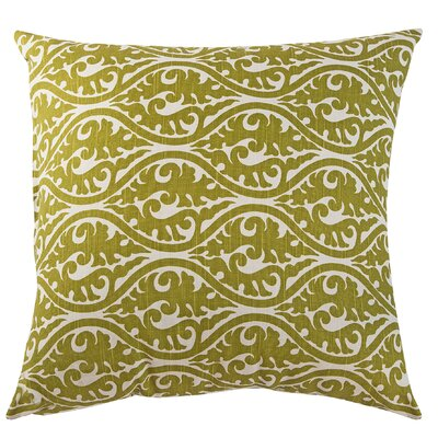 Kimono Accent Cotton Throw Pillow Color: Olive