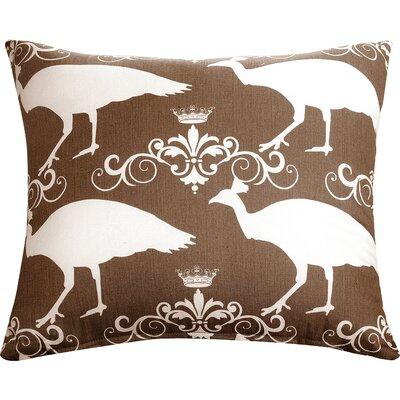 Peacock Accent Cotton Throw Pillow Color: Brown