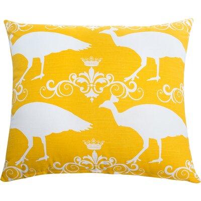 Peacock Accent Cotton Throw Pillow Color: Corn Yellow
