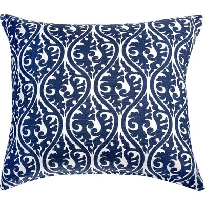 Kimono Accent Cotton Throw Pillow Color: Navy