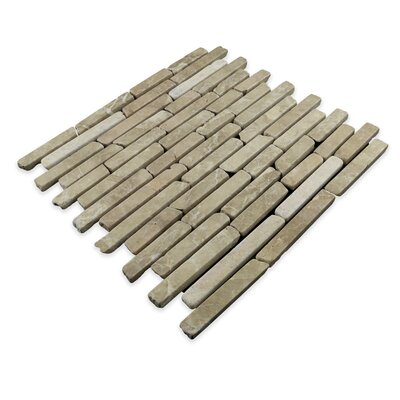 Natural Stone Sticks Random Sized Mosaic Tile in Tan