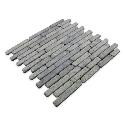 Natural Stone Sticks Random Sized Mosaic Tile in Black