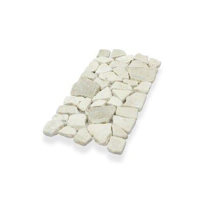 Border Interlock Quartz Mix 6 x 11 3/4 Natural Stone Pebbles/Rocks Tile in Beige