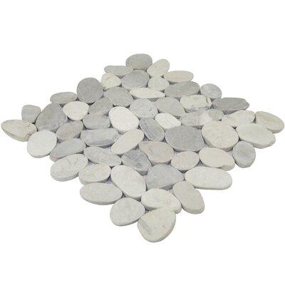 Sliced 12 x 12 Pebble Tile in Gray