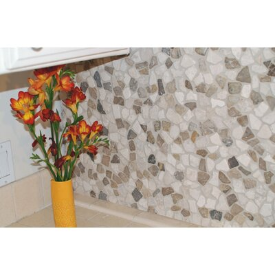 Mini Fit 11.75 x 11.75 Natural Stone Pebbles Tile in Beige