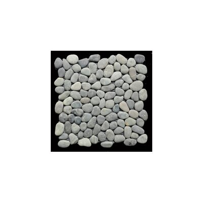 Bypass Random Sized Natural Stone Pebble Tile in Dark Gray