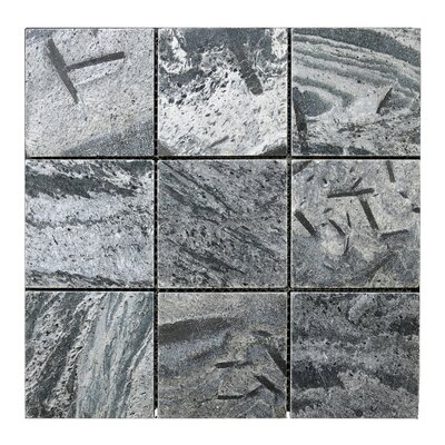 Quartize 4 x 4 Natural Stone Mosaic Tile in Silver