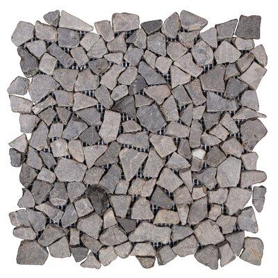 Mini Fit Random Sized Marble Pebble Tile in Gray