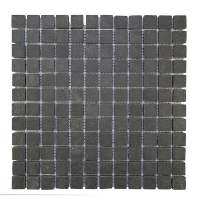 1 x 1 Natural Stone Mosaic Tile in Black