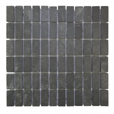 Indonesian Rectangle Natural Stone Mosaic Tile in Black