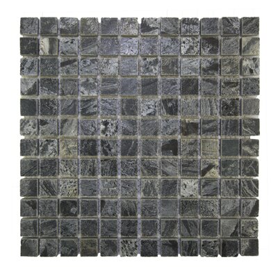 Squares 1 x 1 Natural Indonesian Stone Mosaic Tile in Silver