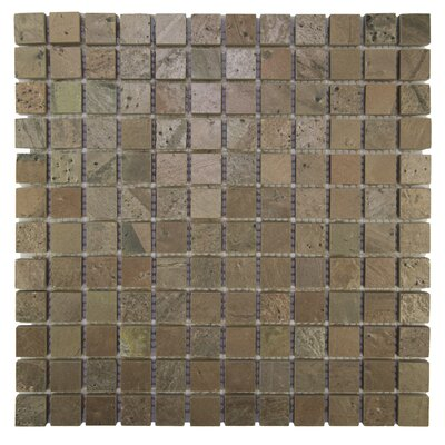 Squares 1 x 1 Natural Stone Mosaic Tile in Cooper