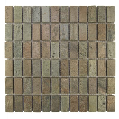 Rectangles 1 x 2 Natural Stone Mosaic Tile in Cooper