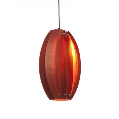 Bloom 1-Light Mini Pendant Finish: Scarlet Red