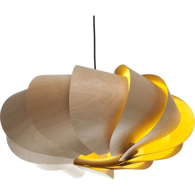 Bloom 1-Light Oval Pendant Finish: Birch, Size: Large