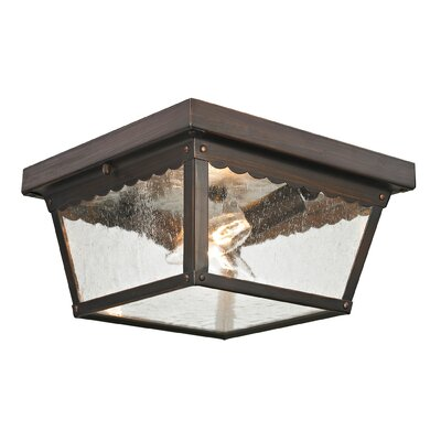 Springfield 2-Light Flush Mount Finish: Hazelnut Bronze