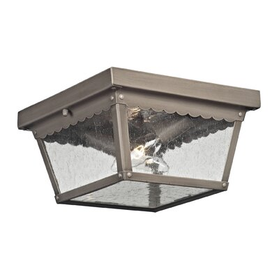 Springfield 2-Light Flush Mount Finish: Antique Nickel